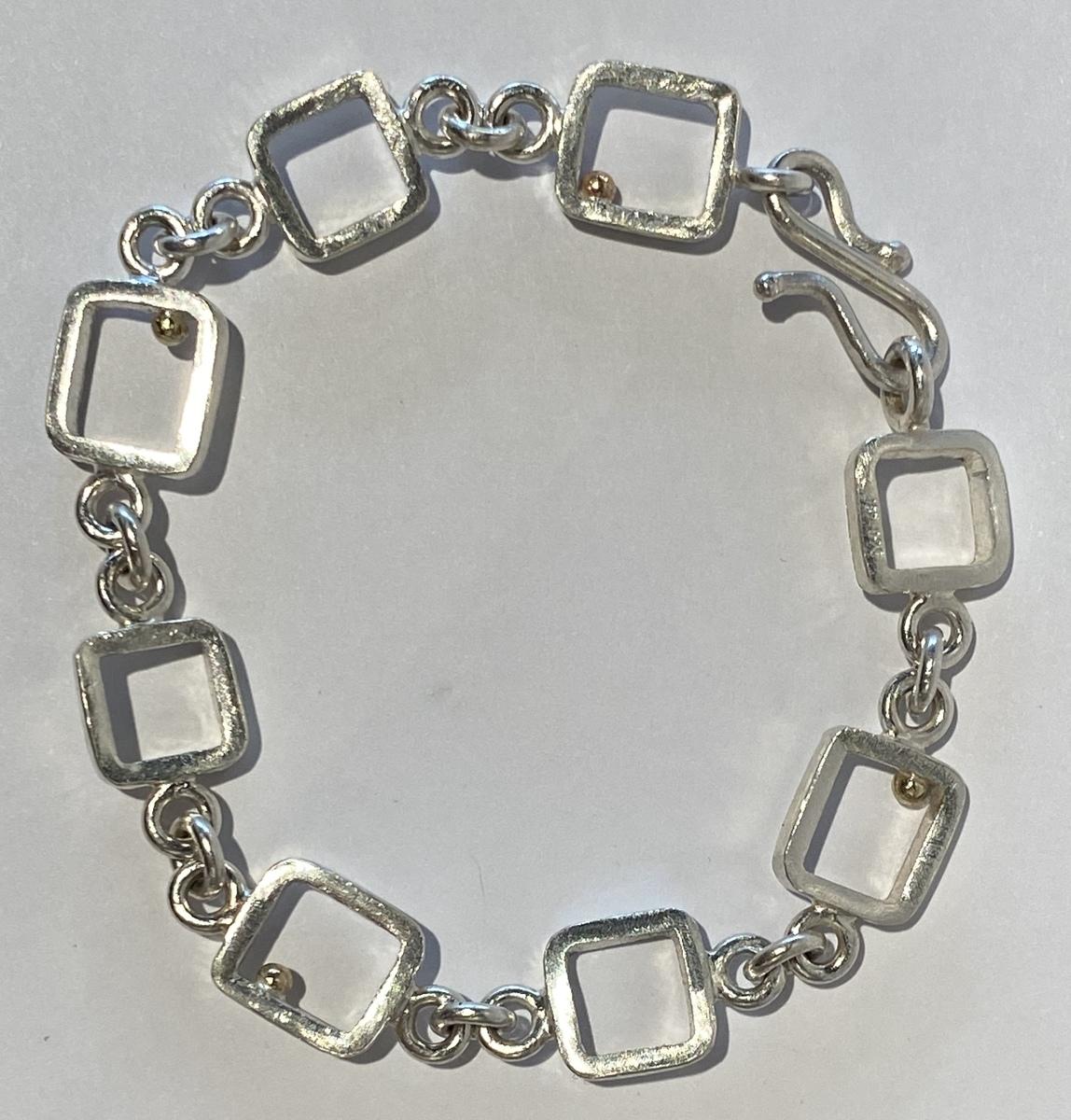 Sterling silver bracelet - GOLD BALL SERIES