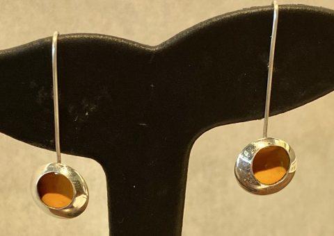 Medium YELLOW enamel drop earrings