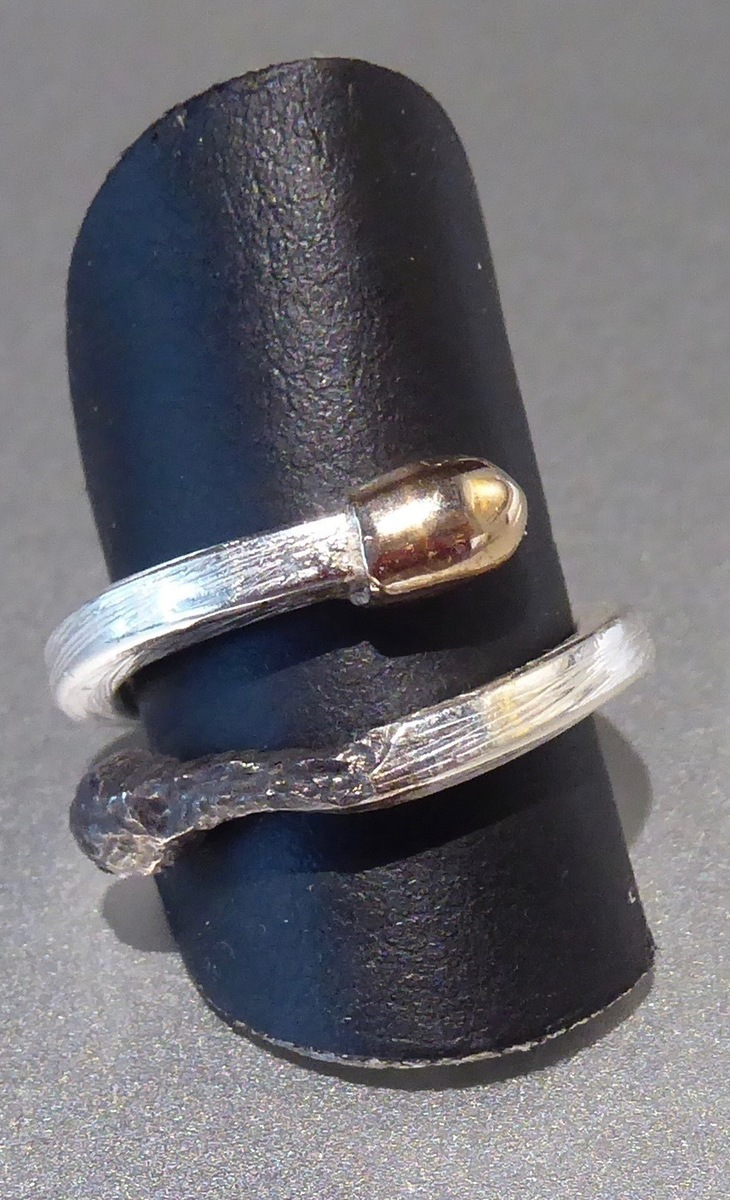 Burnt and alive ring