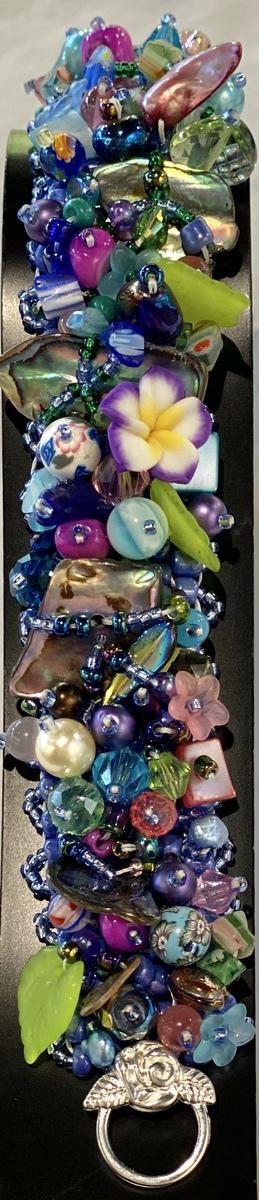 Blue bracelet (wide band)