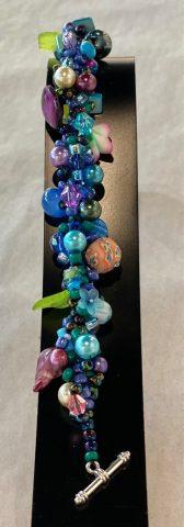 Narrow band bracelet purple and blue)