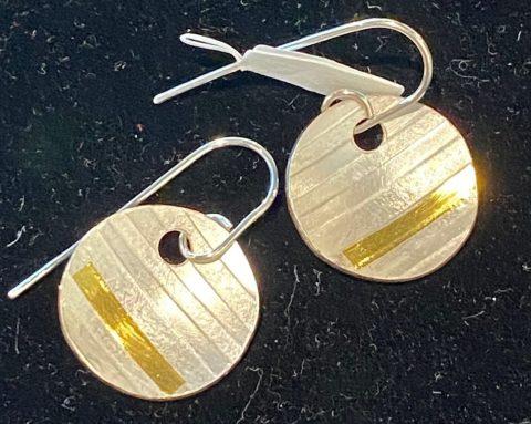 Stripey Dome earrings
