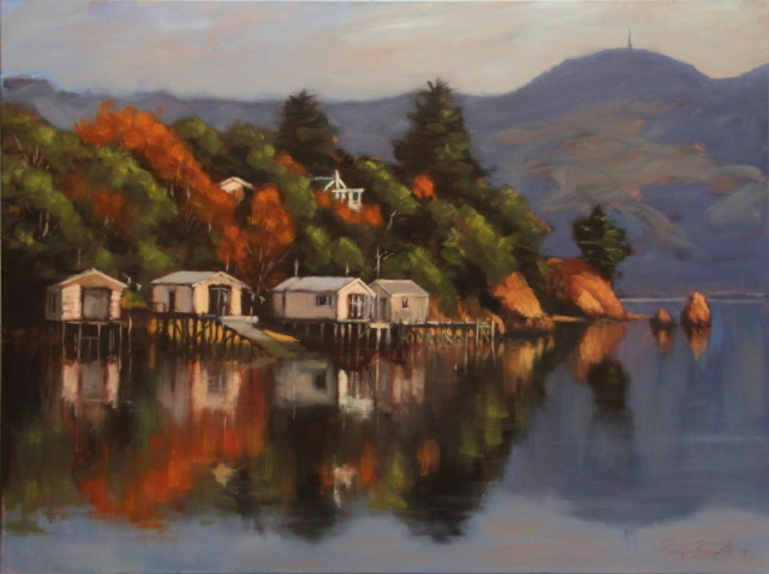 Boatsheds, Turnbulls Bay, Otago Harbour (10276)
