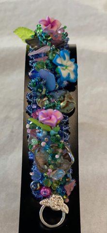 Wide band bracelet (paua)