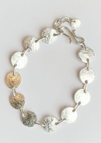 Fine + sterling silver bracelet