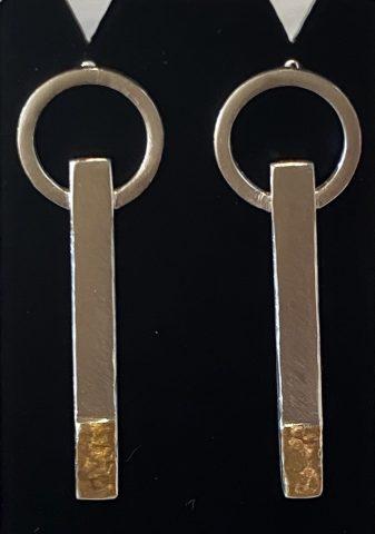 Big Hoop / long bar earrings  (small)