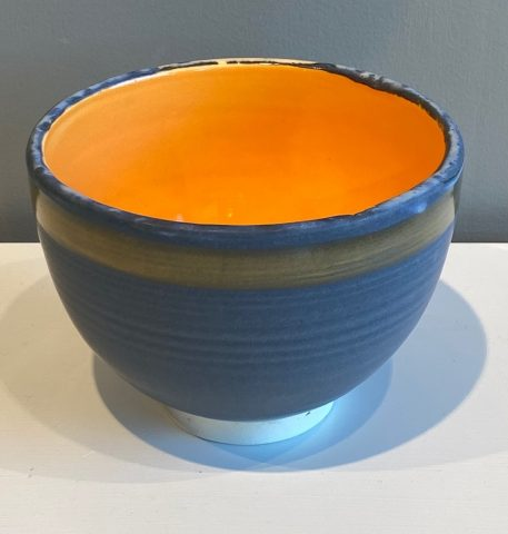 small Stoneware bowl (orange internal)