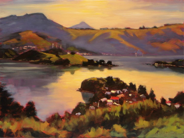 Portobello and Otago Harbour from Highcliff Road