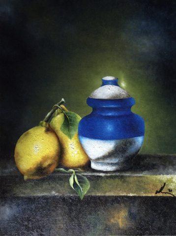 Pot with Lemons