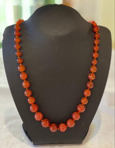 Graduated Carnelian necklace  25765