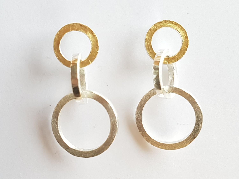 Interlaced earrings