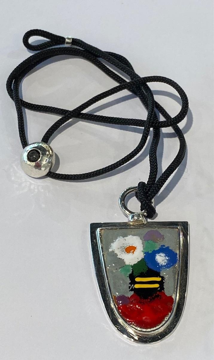 Enamel (Flowers) Pendant (6305)