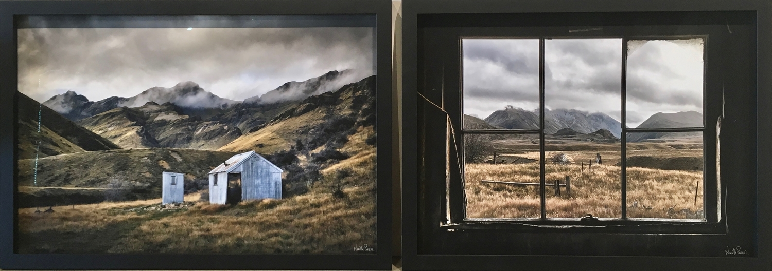 The Hut and Musterers Window diptych