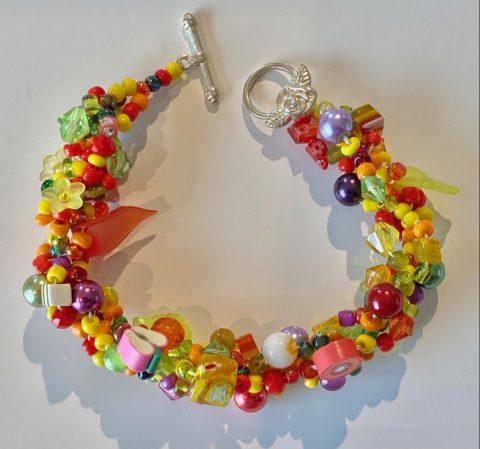 Bracelet - narrow -multi coloured