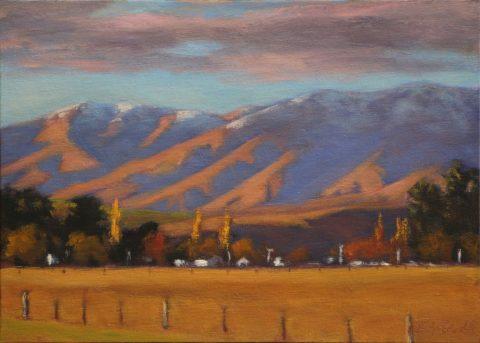 Evening Light on the Hawkdun Range
