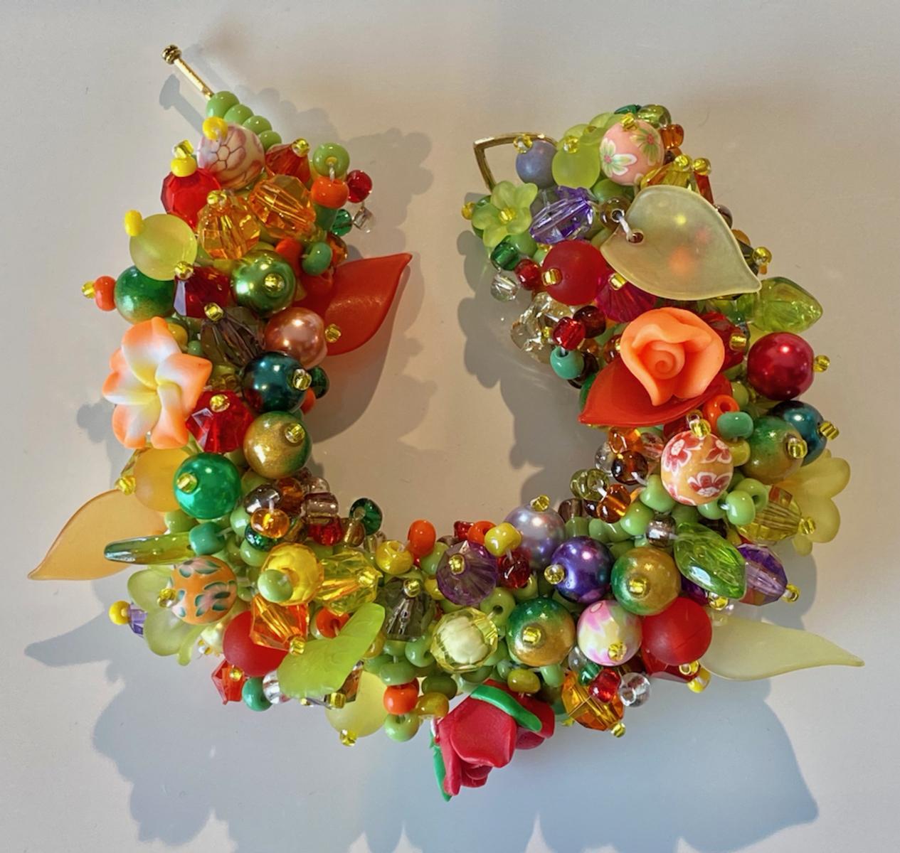 Bracelet - wide - multi coloured
