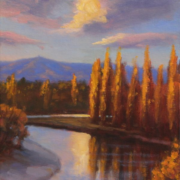 """Leaning Rock from the Manuherikia - """"Autumn Light Central"""" solo exhibition"""