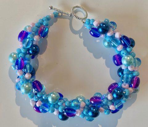 Bracelet - narrow -blues